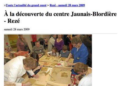 20090328 - Ouest France - Portes ouvertes Jaunais-Blordière