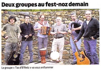 20090723 - Presse Océan - Fest-noz St Brévin