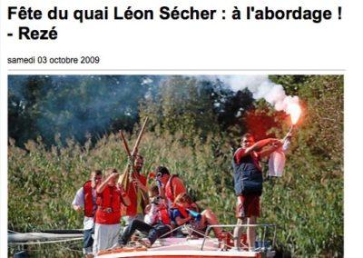 20091003 - Ouest France web - Fête du Quai Léon Sécher