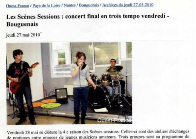 20100527 - Ouest France web - Scènes Sessions