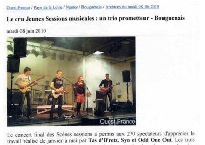 20100608 - Ouest France - Scènes Sessions
