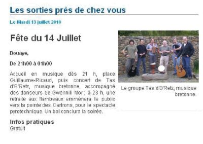 20100713 - Presse Océan Web - 14 juillet à Bouaye