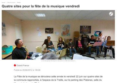 20120620 - Ouest France web - Fête de la musique à Haute-Goulaine