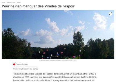 20120928 - Ouest France web - Virades de l'espoir à Vertou