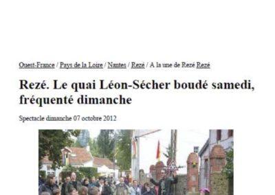 20121007 - Ouest France - Fête du Quai Léon Sécher