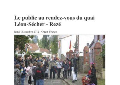 20121008 - Ouest France web - Fête du Quai Léon Sécher