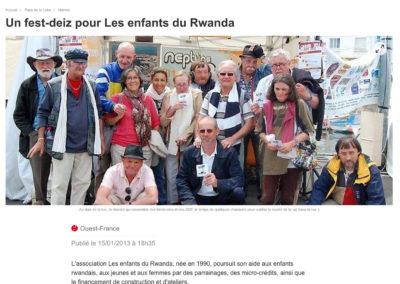 20130115 - Ouest France web - Fest-deiz Enfants du Rwanda