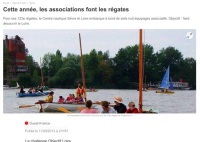 20130911 - Ouest France web - Régates de Trantemoult