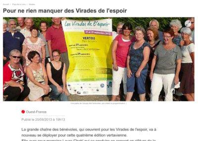 20130925 - Ouest France web - Virades de l'espoir
