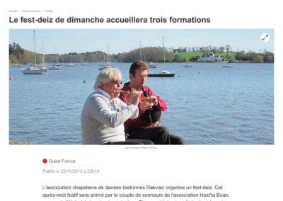 20131122 - Ouest France web - Fest-deiz Rakvlaz