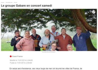 20140111 - Ouest France web - Soirée bretonne à l'Héronnière