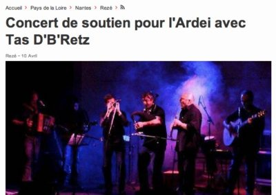 20140410 - Ouest France web - Concert Ardei