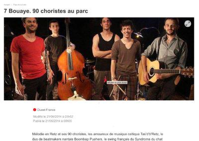 20140621 - Ouest France web - Fête de la musique à Bouaye