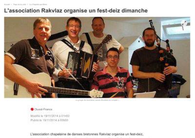 20141119 - Ouest France web - Fest-deiz Rakvlaz