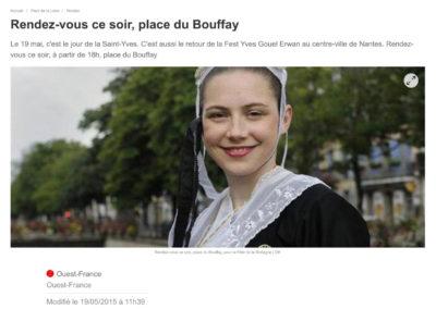 20150519 - Ouest France web - Gouel Erwan place du Bouffay
