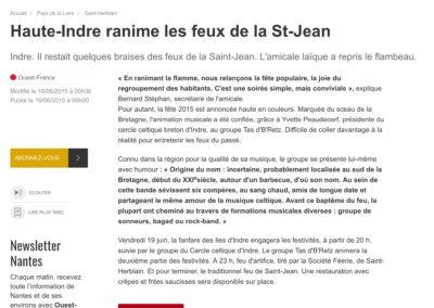 20150616 - Ouest France web - Feux de la St Jean à Haute-Indre