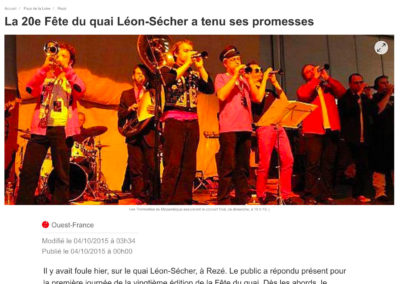 20151004 - Ouest France web - Fête du Quai Léon Sécher