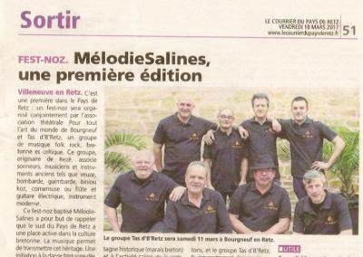 20170310 - Le Courrier du Pays de retz - Mélodies Salines