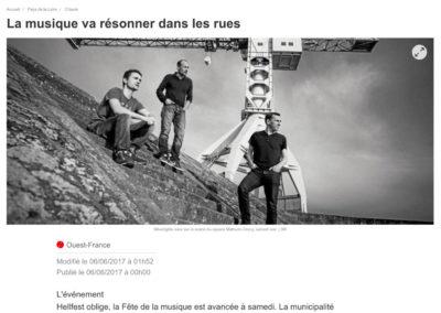 20170606 - Ouest France web - Fête de la musique à Clisson