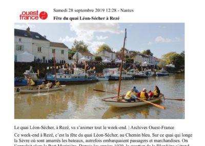 20190928 - Ouest France web - Fête du Quai Léon Sécher