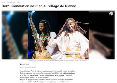20201013 - Ouest France - Concert en soutien au village de Diawar