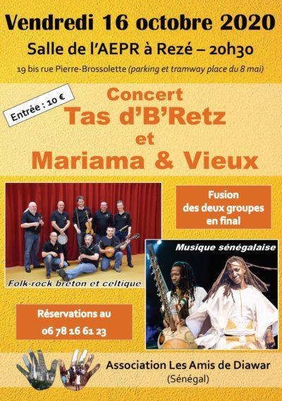 Concert Tas d'B'Retz et Mariama & Vieux
